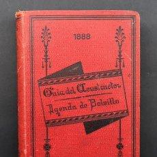 Libros antiguos: LIBRO GUIA DEL CONSTRUCTOR . AGENDA DE BOLSILLO 1888 . SOCIEDAD DE INGENIEROS Y ARQUITECTOS. Lote 153351366