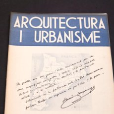 Libros antiguos: ARQUITECTURA I URBANISME Nº 16 - 17 - SINDICAT D´ARQUITECTES DE CATALUNYA. Lote 153647734