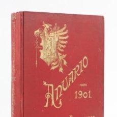 Libros antiguos: ANUARIO PARA 1901, ASOCIACIÓN DE ARQUITECTOS DE CATALUÑA, BARCELONA. 27X20CM. Lote 153650070