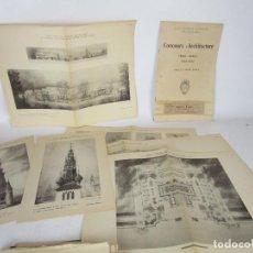 Libros antiguos: CONCOURS D´ARCHITECTURE. CONCURSOS ARQUITECTURA. CIENTOS LAMINAS. PARIS 1929 1930. Lote 154654546