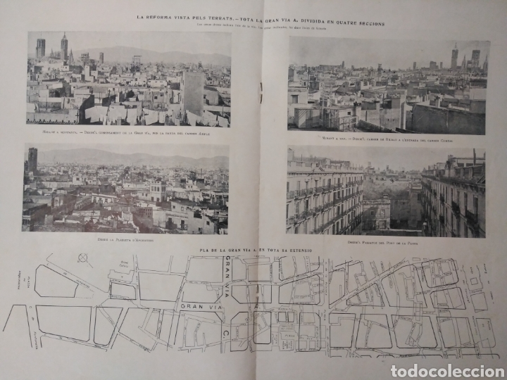 Libros antiguos: BARCELONA 1908 * la reforma de LA GRAN VIA A * muchas fotografias de calles antiguas - Foto 8 - 155730565