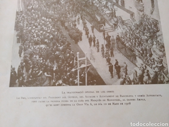 Libros antiguos: BARCELONA 1908 * la reforma de LA GRAN VIA A * muchas fotografias de calles antiguas - Foto 11 - 155730565