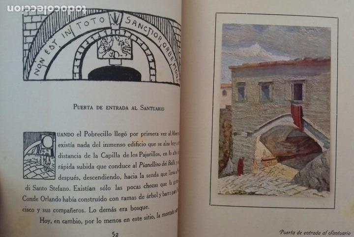 Libros antiguos: LOS SANTUARIOS FRANCISCANOS. TOMO I. EL ALVERNA 1927. EN EL CASENTINO. VITTORINO FACHINETTI. - Foto 5 - 156002594