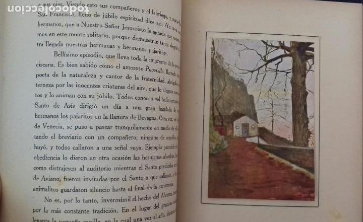 Libros antiguos: LOS SANTUARIOS FRANCISCANOS. TOMO I. EL ALVERNA 1927. EN EL CASENTINO. VITTORINO FACHINETTI. - Foto 6 - 156002594