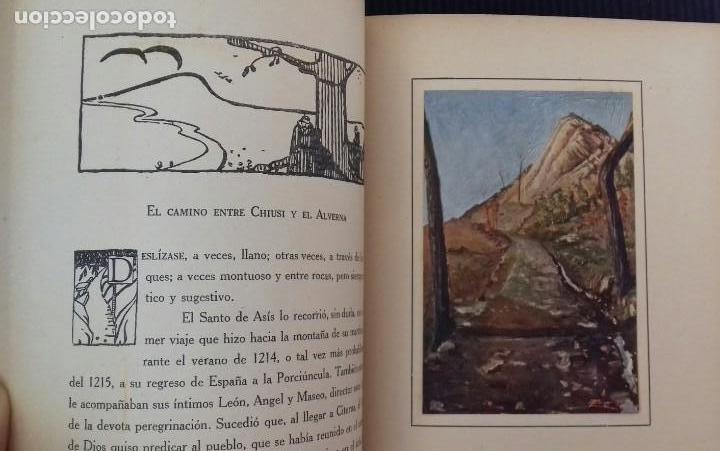 Libros antiguos: LOS SANTUARIOS FRANCISCANOS. TOMO I. EL ALVERNA 1927. EN EL CASENTINO. VITTORINO FACHINETTI. - Foto 7 - 156002594
