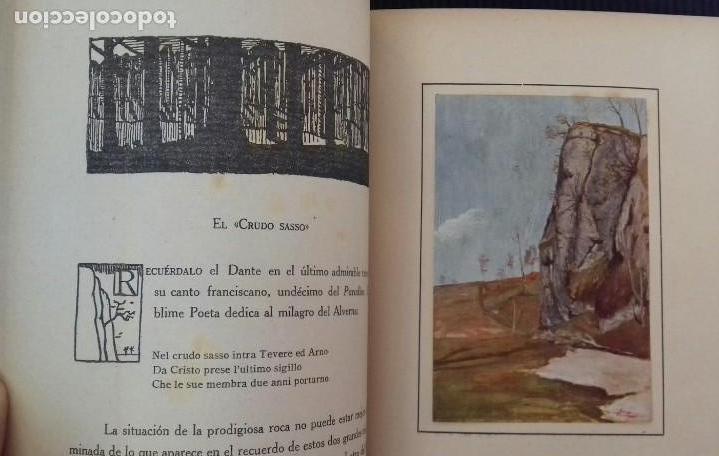 Libros antiguos: LOS SANTUARIOS FRANCISCANOS. TOMO I. EL ALVERNA 1927. EN EL CASENTINO. VITTORINO FACHINETTI. - Foto 8 - 156002594