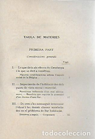Libros antiguos: L habitació popular. Cases i hotels per a obrers, empleats i estudiants / X. Calderó. BCN, 1914. - Foto 3 - 156006446