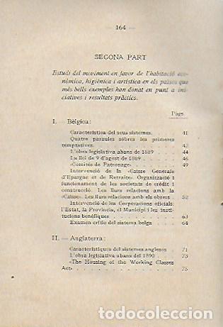 Libros antiguos: L habitació popular. Cases i hotels per a obrers, empleats i estudiants / X. Calderó. BCN, 1914. - Foto 4 - 156006446