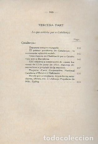 Libros antiguos: L habitació popular. Cases i hotels per a obrers, empleats i estudiants / X. Calderó. BCN, 1914. - Foto 6 - 156006446
