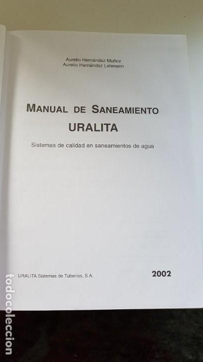 Libros antiguos: MANUAL DE SANEAMIENTO URALITA - Foto 8 - 156305346