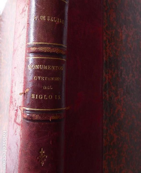 Libros antiguos: L-5305. MONUMENTOS OVETENSES DEL SIGLO IX. POR FORTUNATO DE SELGAS. AÑO 1908. EDICIÓN ORIGINAL. - Foto 3 - 156315718