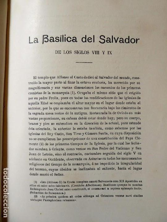 Libros antiguos: L-5305. MONUMENTOS OVETENSES DEL SIGLO IX. POR FORTUNATO DE SELGAS. AÑO 1908. EDICIÓN ORIGINAL. - Foto 5 - 156315718