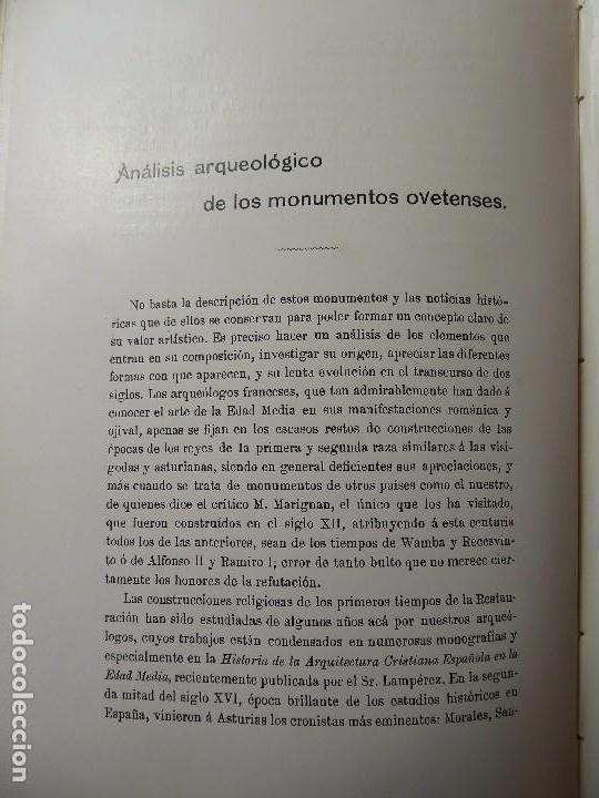 Libros antiguos: L-5305. MONUMENTOS OVETENSES DEL SIGLO IX. POR FORTUNATO DE SELGAS. AÑO 1908. EDICIÓN ORIGINAL. - Foto 10 - 156315718