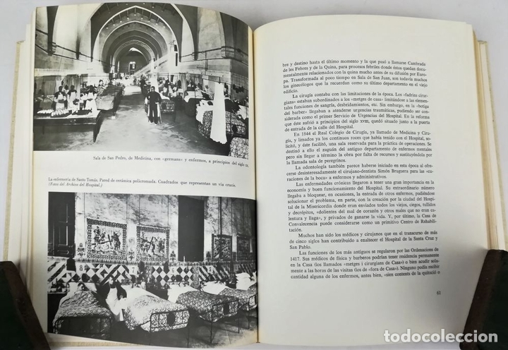 Libros antiguos: HOSPITAL DE SANTA CRUZ Y DE SAN PABLO. VV. AA. EDITORIAL GUSTAVO GILI. S.A. BARCELONA 1971 - Foto 5 - 156976354
