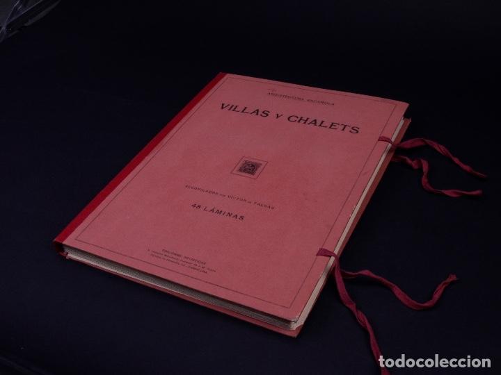 ARQUITECTURA ESPAÑOLA, VILLAS Y CHALETS. 48 LÁMINAS. BARCELONA 1920 (Libros Antiguos, Raros y Curiosos - Bellas artes, ocio y coleccion - Arquitectura)