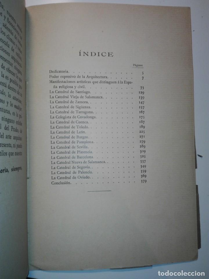 Libros antiguos: Las catedrales de España principales (románicas y góticas). Ricardo Benavent y Feliu. Valencia 1913 - Foto 8 - 159448466