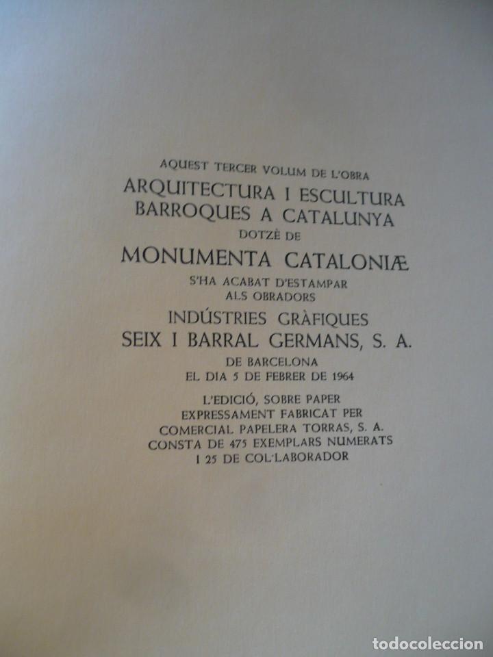 Libros antiguos: Arquitectura i escultura Barroques a Catalunya, Cesar Martinell, Ed. Alpha barroc acadèmic - Foto 5 - 159639978