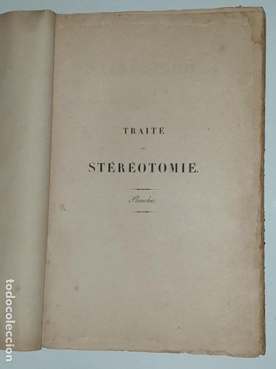 Libros antiguos: TRAITE STEREOTOMIE . LES APPLICATIONS DE LA GEOMETRIE DESCRIPTIVE -1883 -LEROY - Foto 3 - 161153662