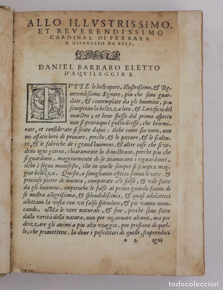 Libros antiguos: I dieci libri dellarchitettura di M. Vitruvio, 1585, restaurado, con grabados, Venetia. 25x18,5cm - Foto 2 - 161752058