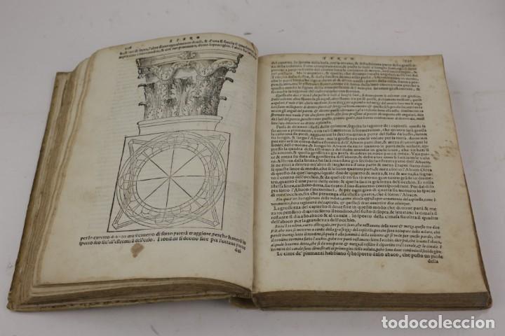 Libros antiguos: I dieci libri dellarchitettura di M. Vitruvio, 1585, restaurado, con grabados, Venetia. 25x18,5cm - Foto 4 - 161752058
