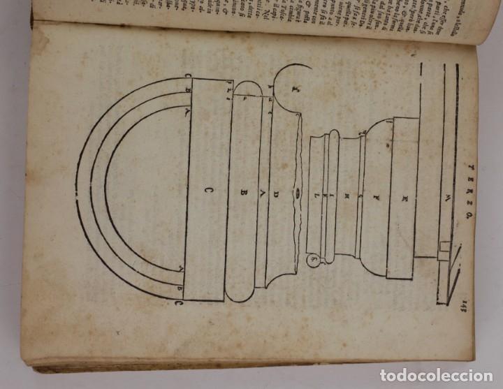 Libros antiguos: I dieci libri dellarchitettura di M. Vitruvio, 1585, restaurado, con grabados, Venetia. 25x18,5cm - Foto 6 - 161752058