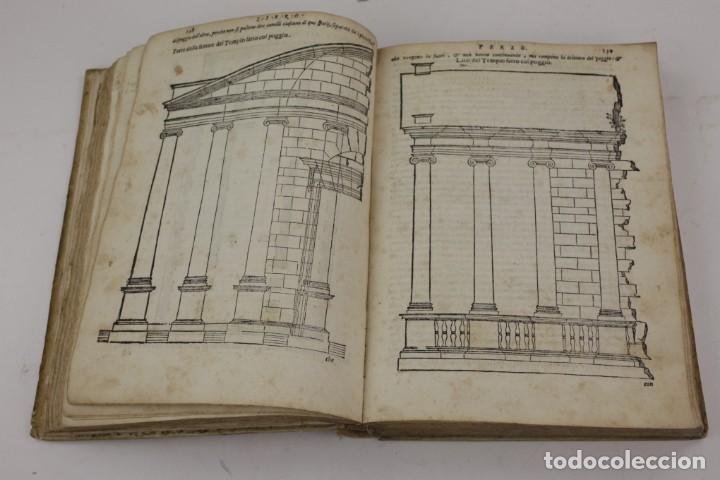 Libros antiguos: I dieci libri dellarchitettura di M. Vitruvio, 1585, restaurado, con grabados, Venetia. 25x18,5cm - Foto 7 - 161752058
