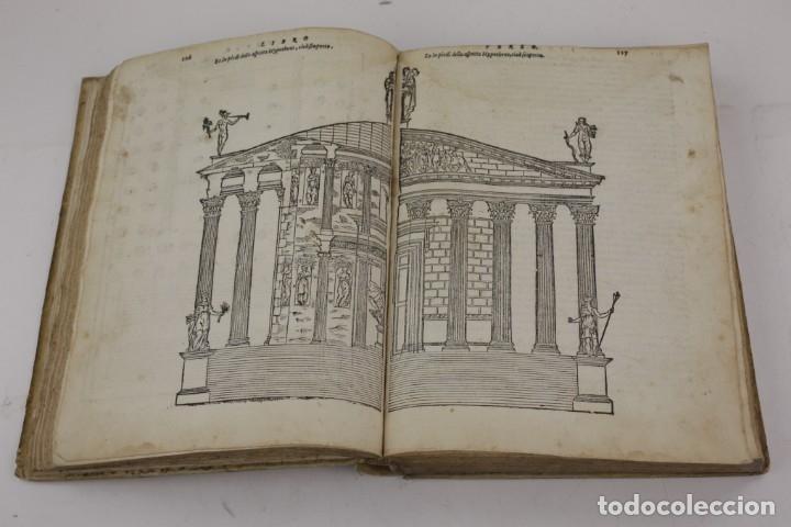 Libros antiguos: I dieci libri dellarchitettura di M. Vitruvio, 1585, restaurado, con grabados, Venetia. 25x18,5cm - Foto 8 - 161752058
