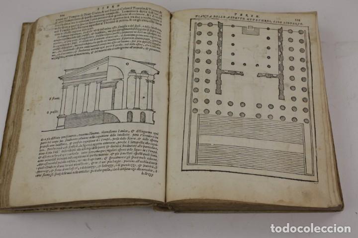 Libros antiguos: I dieci libri dellarchitettura di M. Vitruvio, 1585, restaurado, con grabados, Venetia. 25x18,5cm - Foto 9 - 161752058