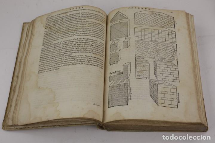 Libros antiguos: I dieci libri dellarchitettura di M. Vitruvio, 1585, restaurado, con grabados, Venetia. 25x18,5cm - Foto 10 - 161752058