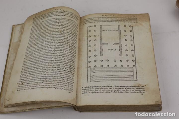 Libros antiguos: I dieci libri dellarchitettura di M. Vitruvio, 1585, restaurado, con grabados, Venetia. 25x18,5cm - Foto 12 - 161752058