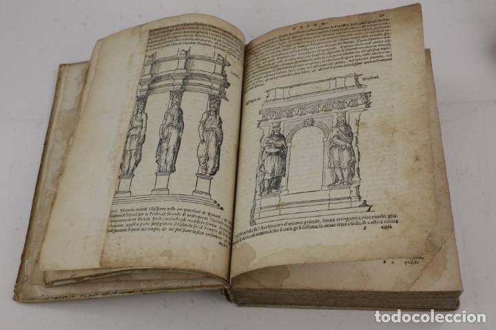 Libros antiguos: I dieci libri dellarchitettura di M. Vitruvio, 1585, restaurado, con grabados, Venetia. 25x18,5cm - Foto 13 - 161752058