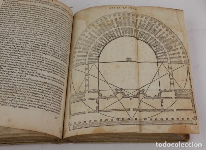 Libros antiguos: I dieci libri dellarchitettura di M. Vitruvio, 1585, restaurado, con grabados, Venetia. 25x18,5cm - Foto 14 - 161752058