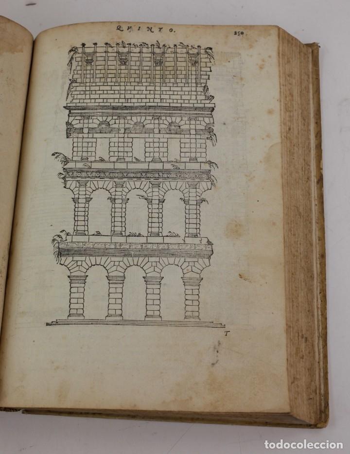 Libros antiguos: I dieci libri dellarchitettura di M. Vitruvio, 1585, restaurado, con grabados, Venetia. 25x18,5cm - Foto 15 - 161752058