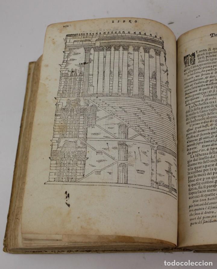 Libros antiguos: I dieci libri dellarchitettura di M. Vitruvio, 1585, restaurado, con grabados, Venetia. 25x18,5cm - Foto 16 - 161752058