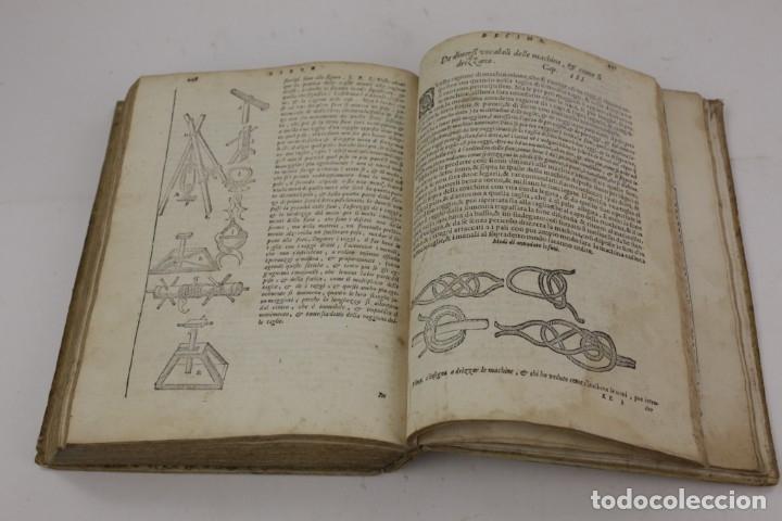 Libros antiguos: I dieci libri dellarchitettura di M. Vitruvio, 1585, restaurado, con grabados, Venetia. 25x18,5cm - Foto 19 - 161752058