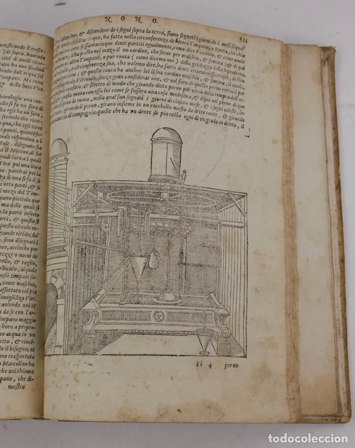 Libros antiguos: I dieci libri dellarchitettura di M. Vitruvio, 1585, restaurado, con grabados, Venetia. 25x18,5cm - Foto 20 - 161752058