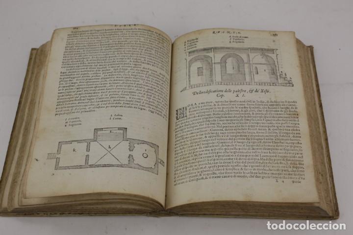 Libros antiguos: I dieci libri dellarchitettura di M. Vitruvio, 1585, restaurado, con grabados, Venetia. 25x18,5cm - Foto 22 - 161752058