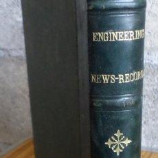 Libros antiguos: ENGINEERING NEWS RECORD 1918 -- CON ALGUNA ILUSTRACIÓN A B/N . Lote 162129566