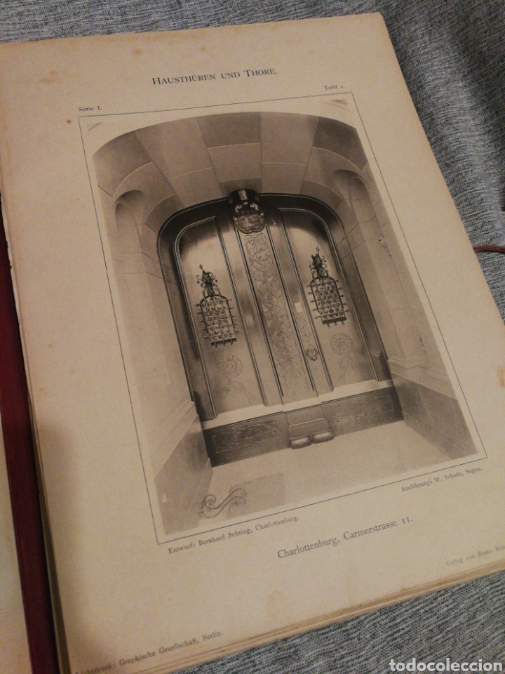 Libros antiguos: HAUSTHÜREN UND THORE- EGON HESSLING (40 LÁMINAS), ARQUITECTURA PUERTAS ENTRADA 1900s, J.M.FABRE.E. - Foto 4 - 162130685