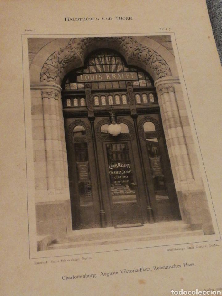 Libros antiguos: HAUSTHÜREN UND THORE- EGON HESSLING (40 LÁMINAS), ARQUITECTURA PUERTAS ENTRADA 1900s, J.M.FABRE.E. - Foto 6 - 162130685