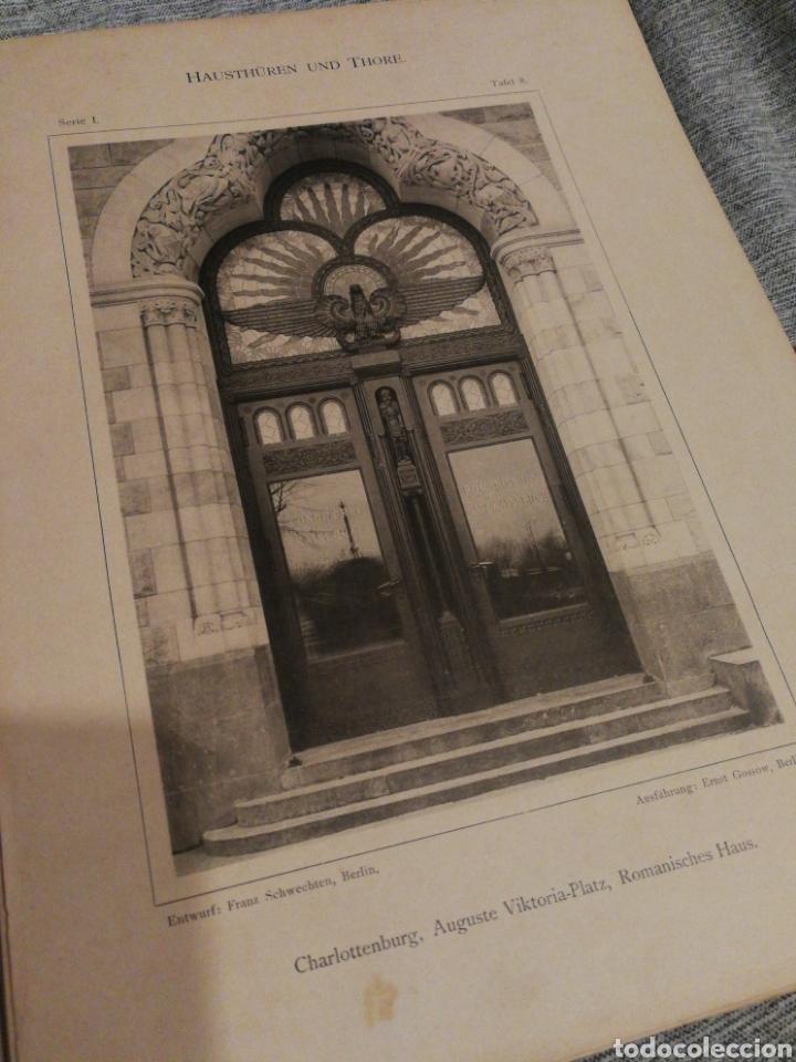 Libros antiguos: HAUSTHÜREN UND THORE- EGON HESSLING (40 LÁMINAS), ARQUITECTURA PUERTAS ENTRADA 1900s, J.M.FABRE.E. - Foto 7 - 162130685