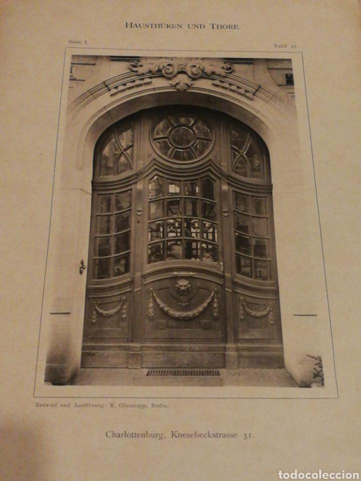 Libros antiguos: HAUSTHÜREN UND THORE- EGON HESSLING (40 LÁMINAS), ARQUITECTURA PUERTAS ENTRADA 1900s, J.M.FABRE.E. - Foto 9 - 162130685
