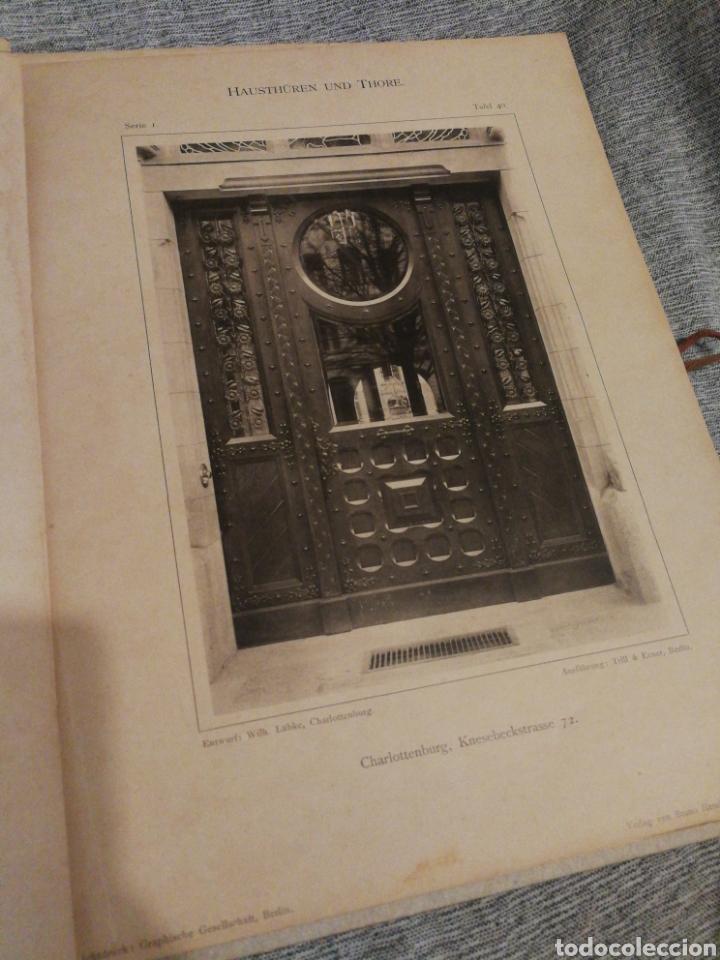 Libros antiguos: HAUSTHÜREN UND THORE- EGON HESSLING (40 LÁMINAS), ARQUITECTURA PUERTAS ENTRADA 1900s, J.M.FABRE.E. - Foto 10 - 162130685