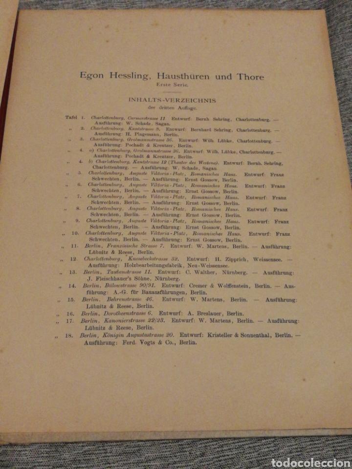 Libros antiguos: HAUSTHÜREN UND THORE- EGON HESSLING (40 LÁMINAS), ARQUITECTURA PUERTAS ENTRADA 1900s, J.M.FABRE.E. - Foto 11 - 162130685