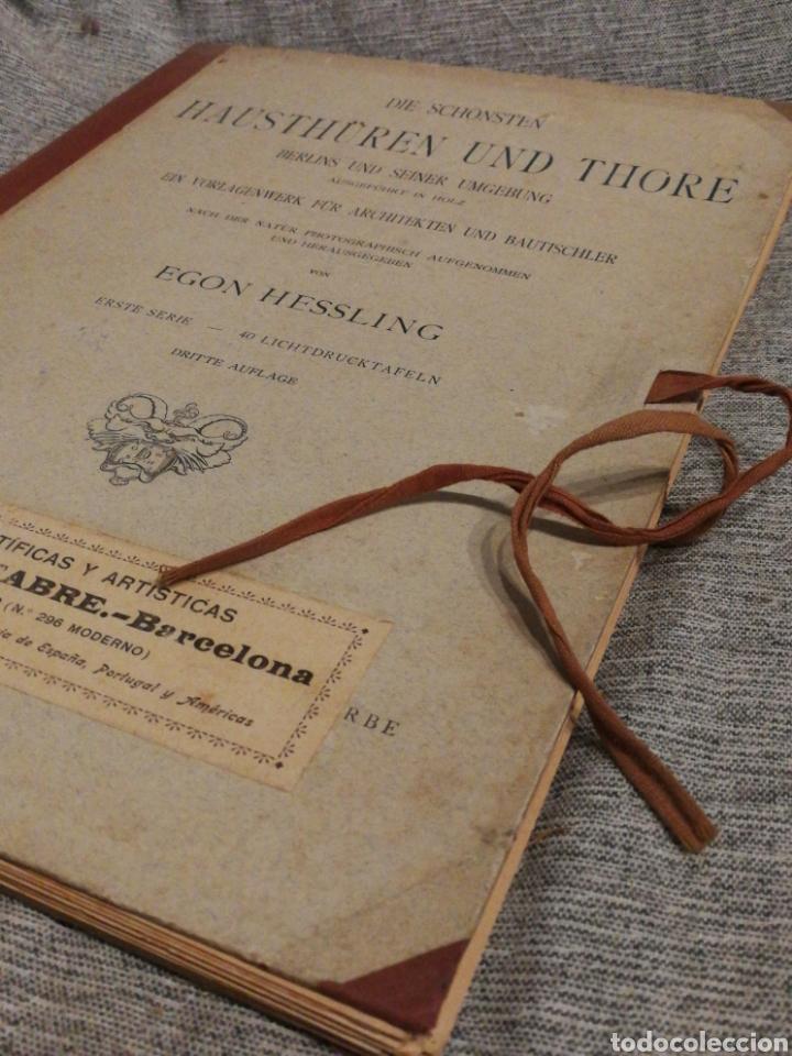 Libros antiguos: HAUSTHÜREN UND THORE- EGON HESSLING (40 LÁMINAS), ARQUITECTURA PUERTAS ENTRADA 1900s, J.M.FABRE.E. - Foto 14 - 162130685