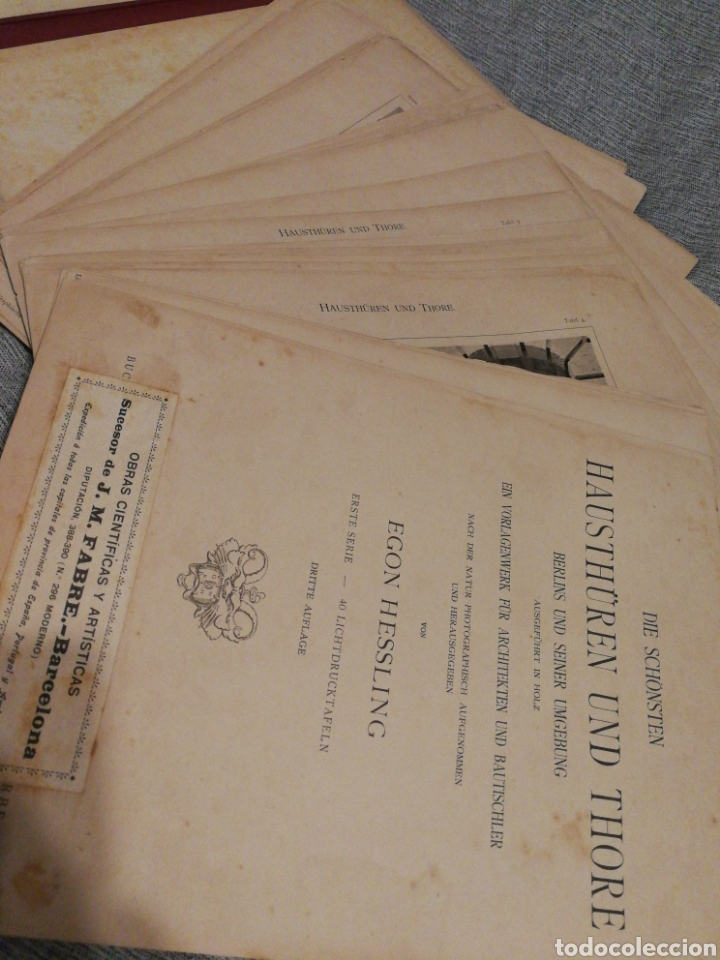 Libros antiguos: HAUSTHÜREN UND THORE- EGON HESSLING (40 LÁMINAS), ARQUITECTURA PUERTAS ENTRADA 1900s, J.M.FABRE.E. - Foto 15 - 162130685
