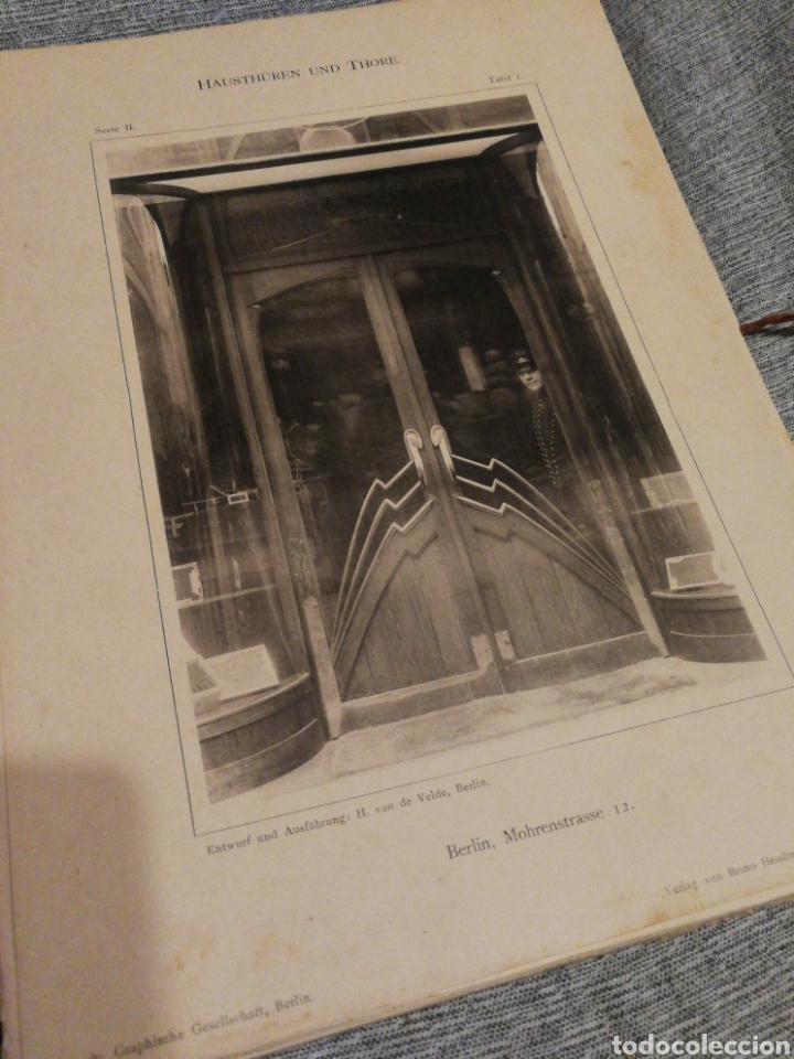 Libros antiguos: HAUSTHÜREN UND THORE ZWEITE SERIE-EGON HESSLING(40 LÁMINAS), ARQUITECTURA PUERTAS ENTRADA, 1900s.E. - Foto 4 - 162131013