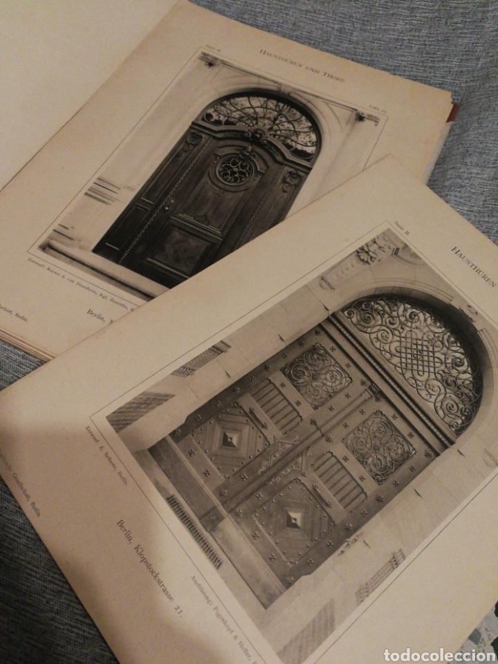 Libros antiguos: HAUSTHÜREN UND THORE ZWEITE SERIE-EGON HESSLING(40 LÁMINAS), ARQUITECTURA PUERTAS ENTRADA, 1900s.E. - Foto 10 - 162131013