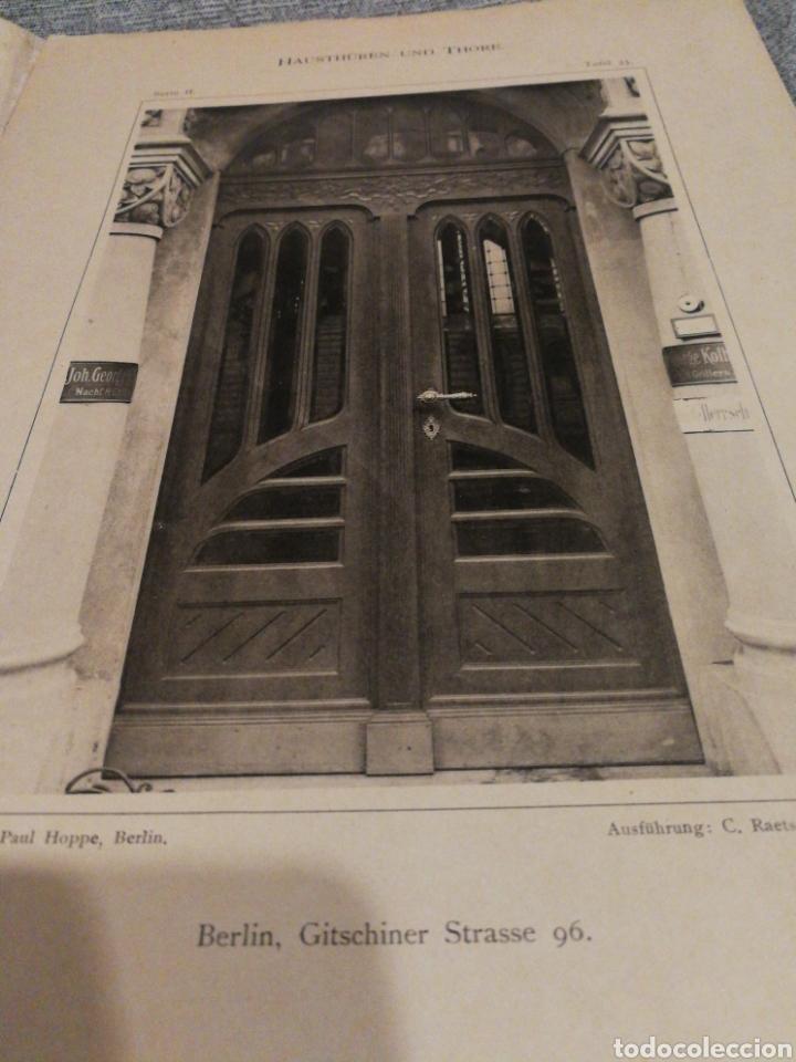 Libros antiguos: HAUSTHÜREN UND THORE ZWEITE SERIE-EGON HESSLING(40 LÁMINAS), ARQUITECTURA PUERTAS ENTRADA, 1900s.E. - Foto 11 - 162131013