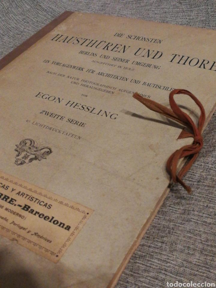 Libros antiguos: HAUSTHÜREN UND THORE ZWEITE SERIE-EGON HESSLING(40 LÁMINAS), ARQUITECTURA PUERTAS ENTRADA, 1900s.E. - Foto 14 - 162131013